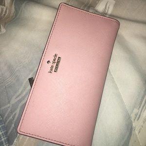 Baby pink kate spade wallet